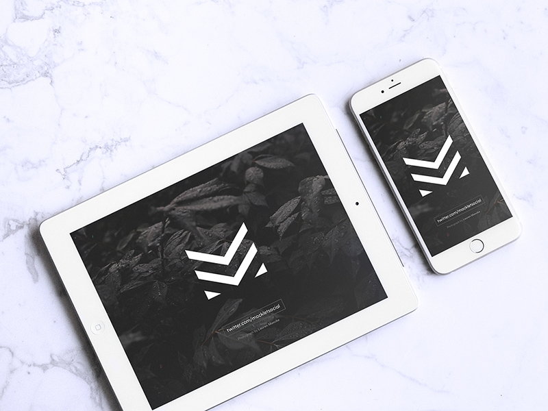 white ipad iphone mockup free psd template psd repo