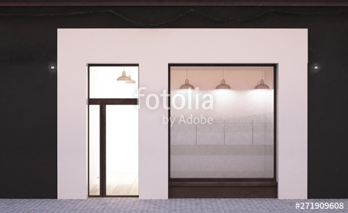 white storefront mockup stock photo and royalty free images on