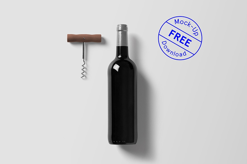 wine bottle free psd mockup template download sexy mockups