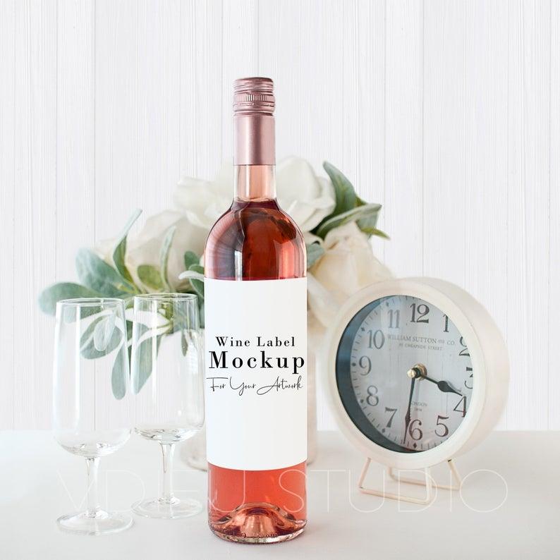 wine bottle mockup bottle mockup label mockup wine label etsy