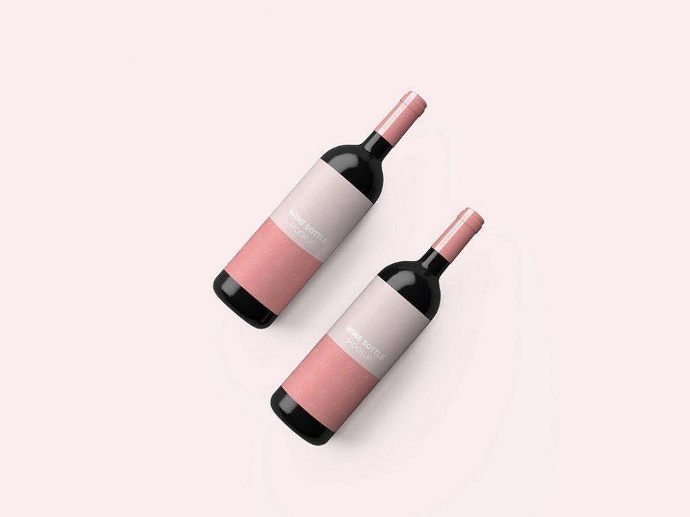 wine mockupworld