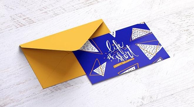 100 photo realistic envelope postcard mockups