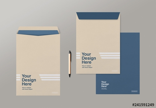 3 c4 envelopes mockup buy this stock template and explore similar