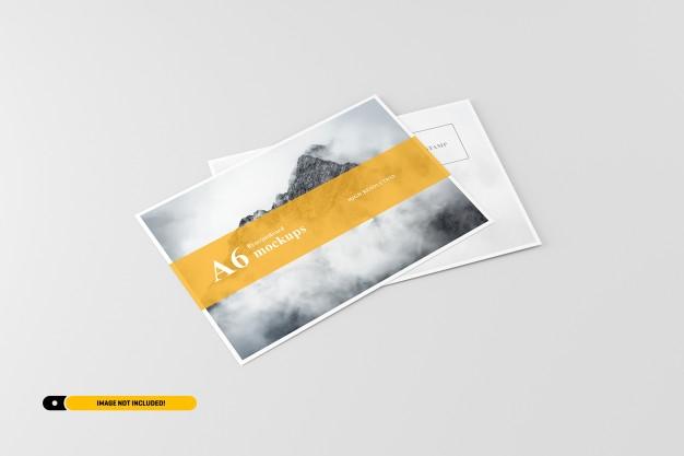 a6 flyer postcard mockup psd file premium download