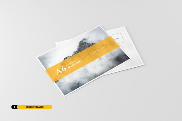 a6 flyer postcard mockup psd file premium download