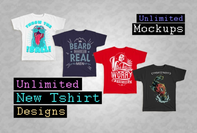 deliver unlimited new tshirt designs and mockups print on demand printful