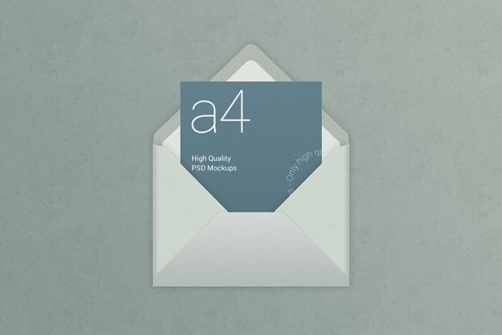 free a4 paper envelope mockup mockuptree