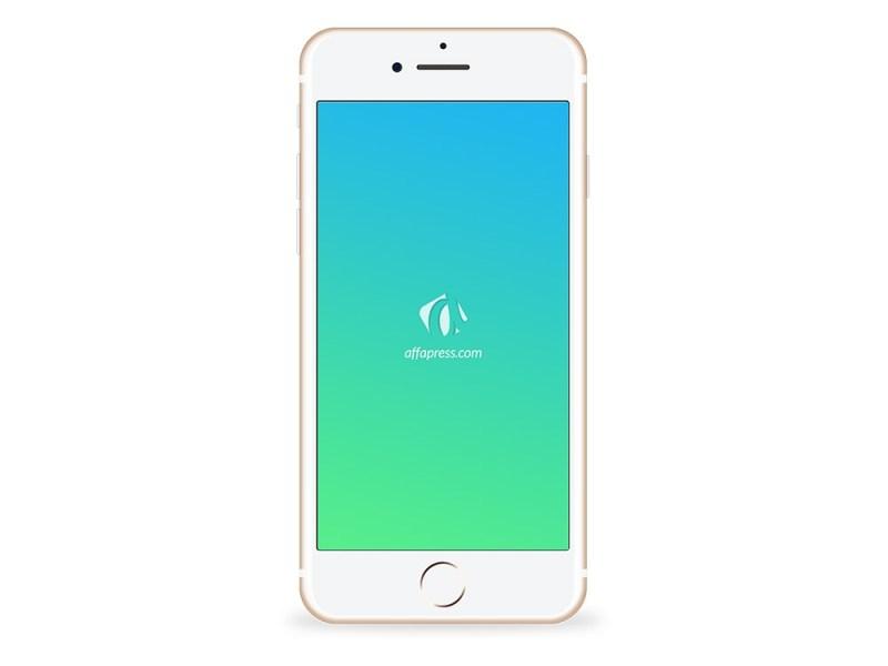 free download iphone 7 gold psd mockup affapress