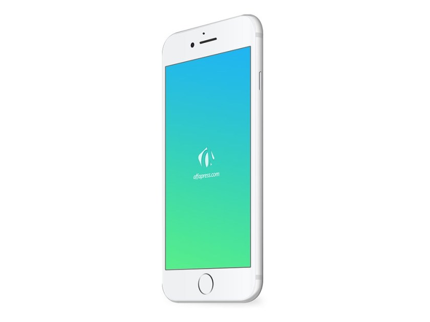 free download iphone 7 silver psd mockup affapress