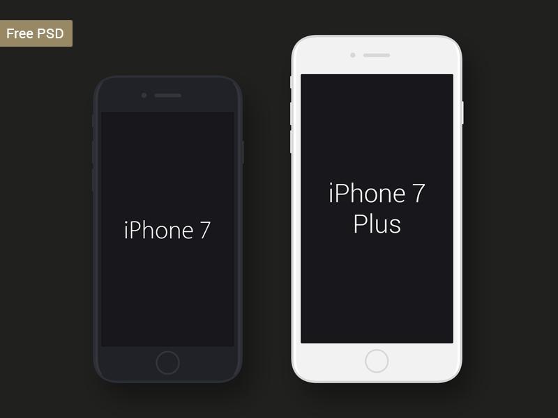 free iphone 7 iphone 7 plus mockup pakshep on dribbble