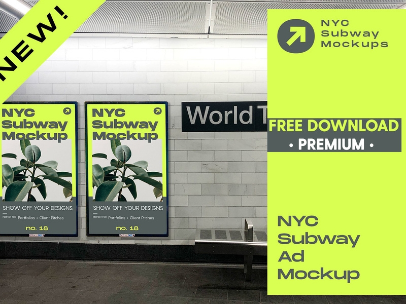 free premium download nyc subway ad mockup mockup5 on dribbble