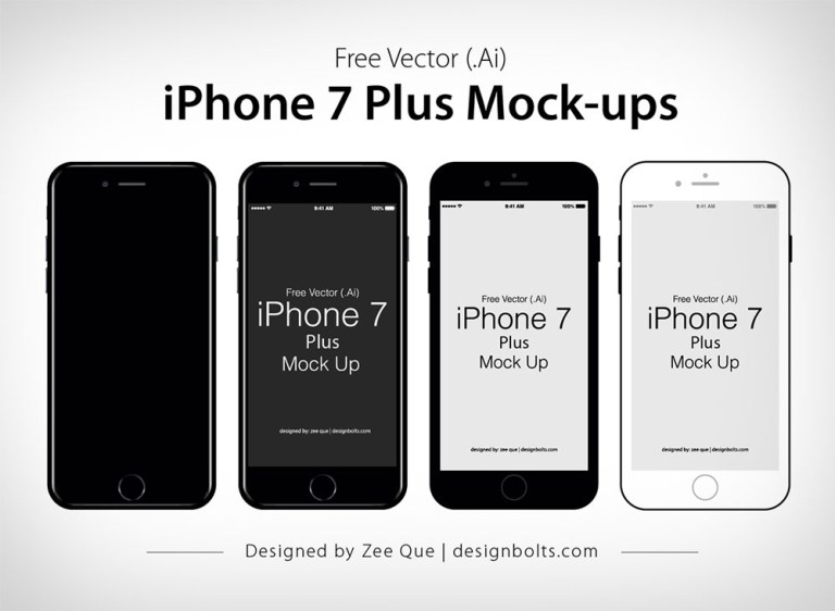 free vector flat official apple iphone 7 plus mock up in ai eps