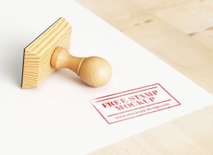 free wooden rubber stamp mockup psd good mockups