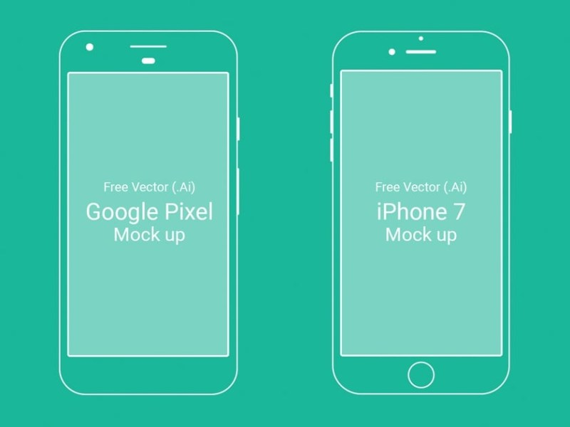 google pixel and iphone 7 mockups fluxes freebies