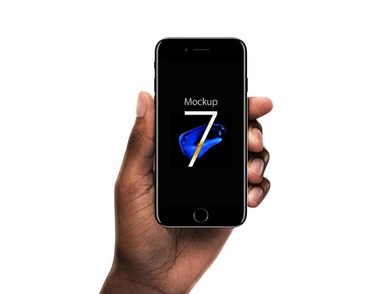 iphone 7 jet black mockup mockuptree