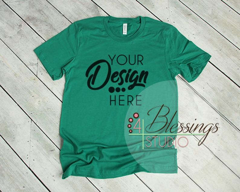kelly green t shirt bella canvas mockup 3001 kelly green unisex shirt tshirt flat mockup shirt flat lay mens mockup printful shirt mockup