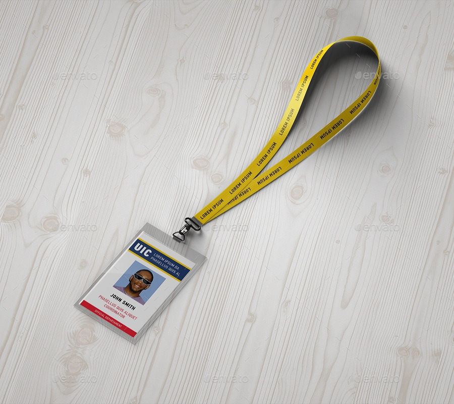 lanyard badge mockup