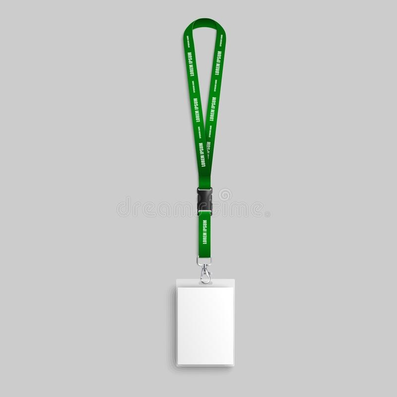 lanyard mockup stock illustrations 589 lanyard mockup stock