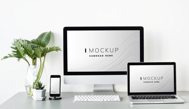 mockup computer vectors photos and psd files free download