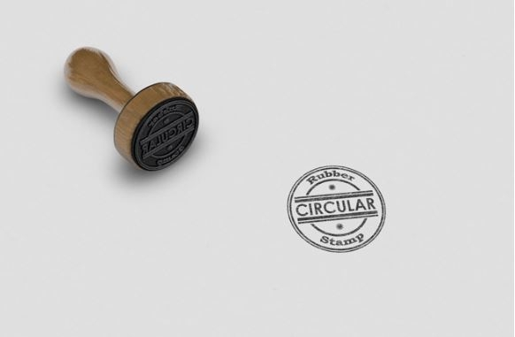 realistic circular rubber stamp logo mockup template sharetemplates