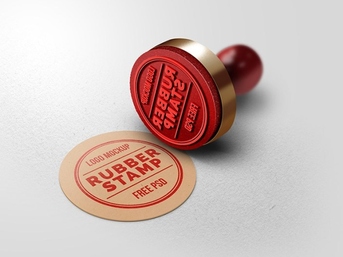 rubber stamp logo mockup graphicsfuel rafi on dribbble