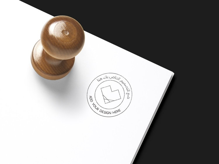 rubber stamp mockup free download