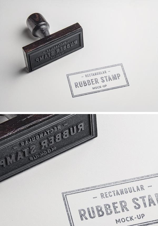 rubber stamp psd mockup 2 graphicburger