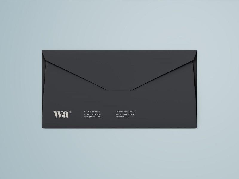 side seam envelope mockup graphic pear on dribbble