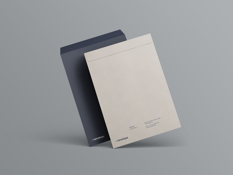 simple psd c4 envelope mockup wassim on dribbble