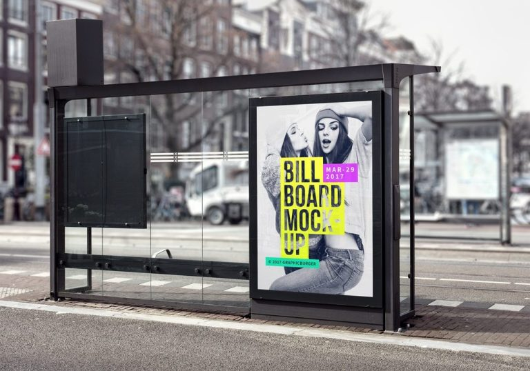 subway advertising billboard mockup mockupworld