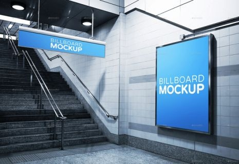 subway advertising mock ups templates premium download subway