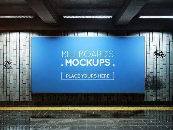 subway billboard mockup 47 product mockups product mockups