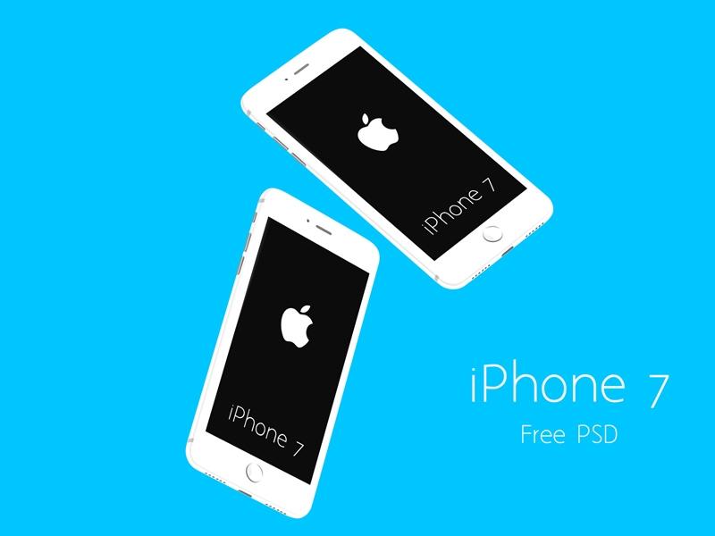 white iphone 7 mockups free psd uxfree