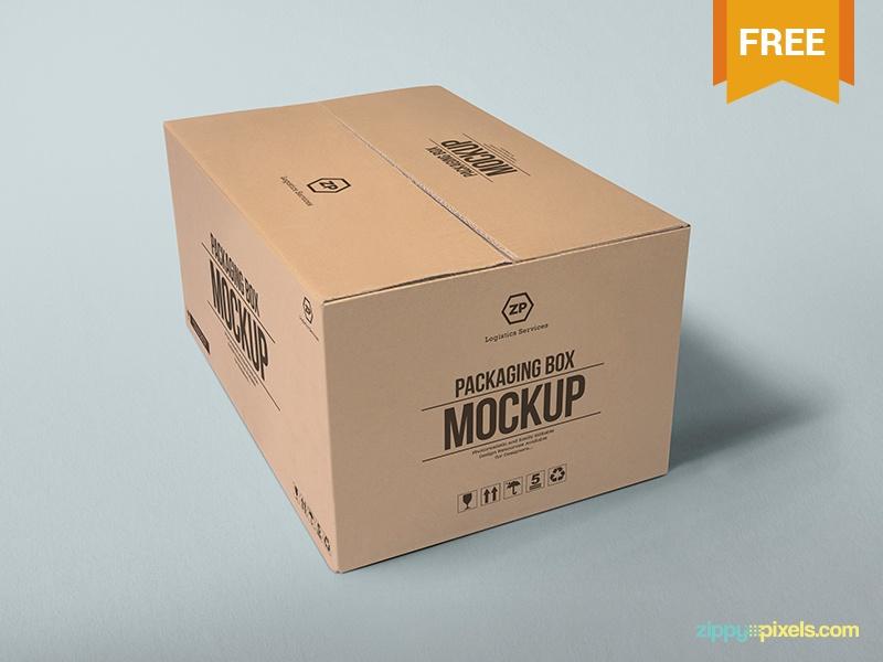 2 free packaging box mockups zippypixels on dribbble