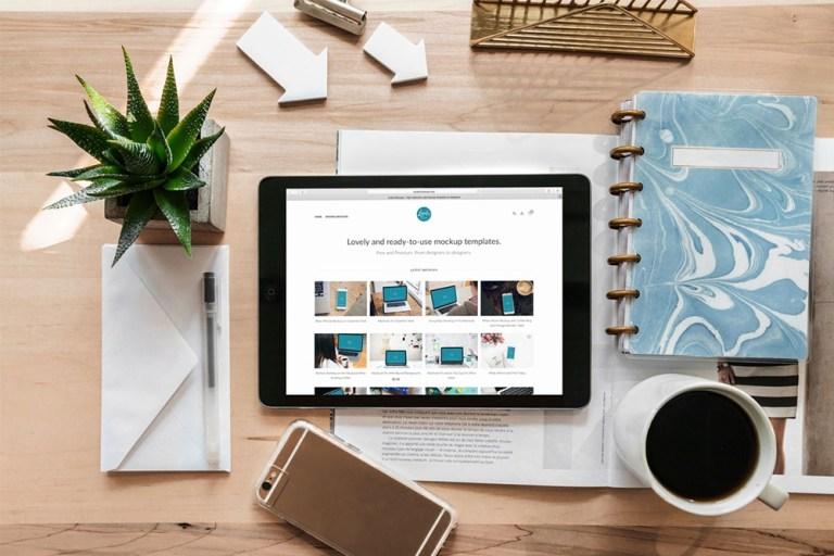 37 essential desk mockups for graphic design colorlib