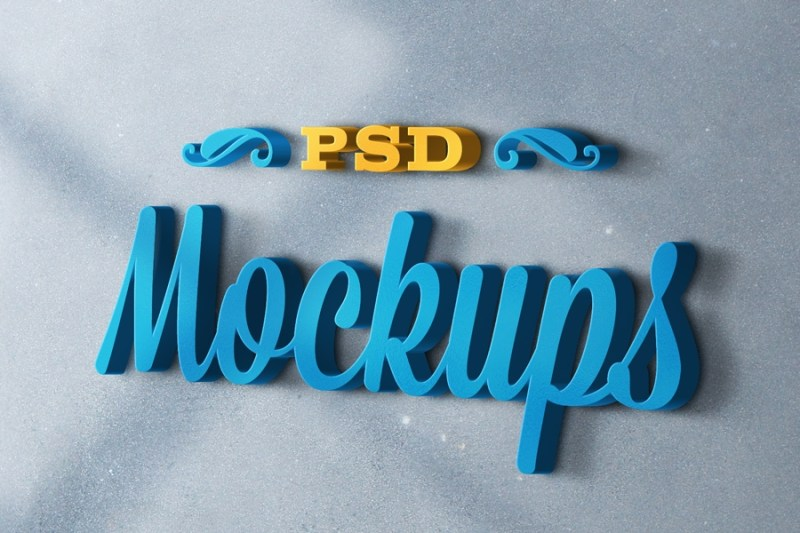 3d logo mockups psd