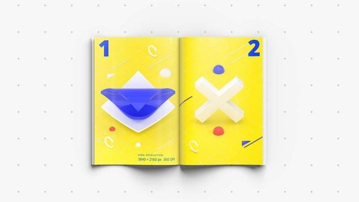 3d magazine a4 mockup bundle mockupworld