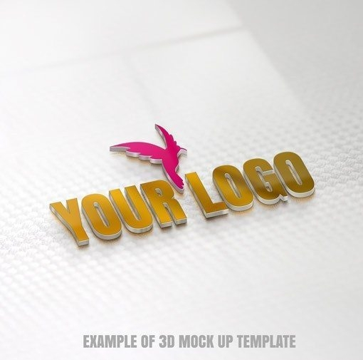 3d mockup logo design give your logo a special 3d effect