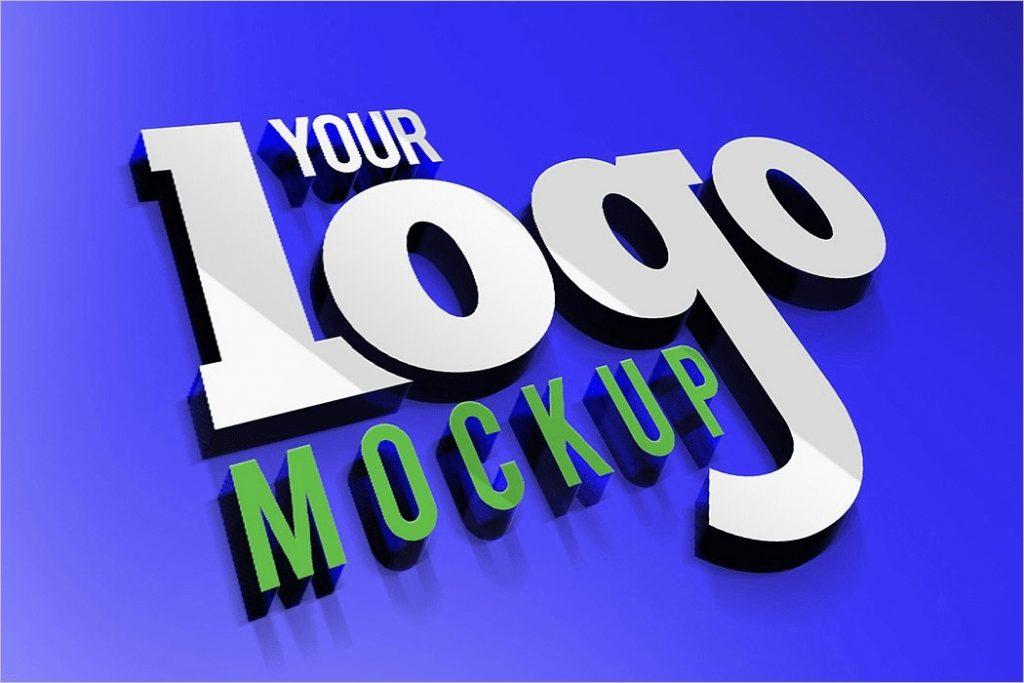 52 3d logo mockup psd templates free photoshop designs download