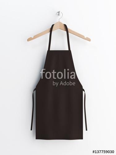 apron black apron apron mockup apron on clothes hanger 3d
