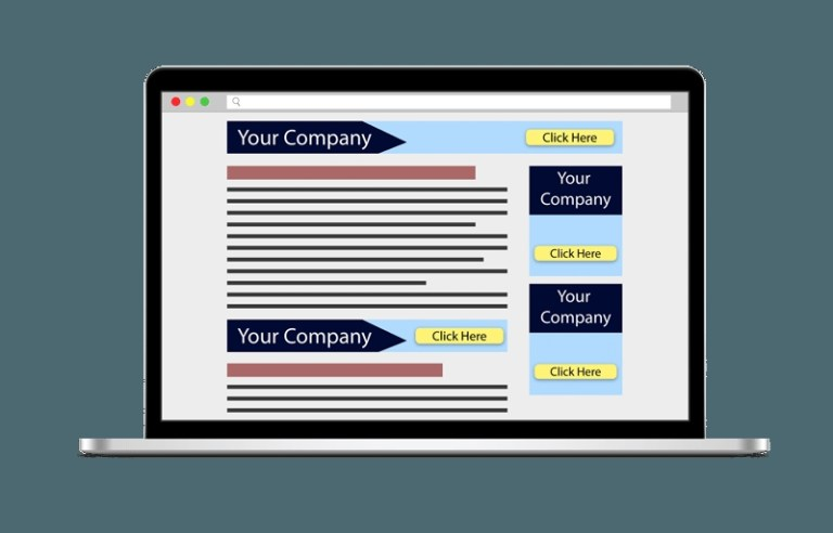 banner ad laptop mockup web badger