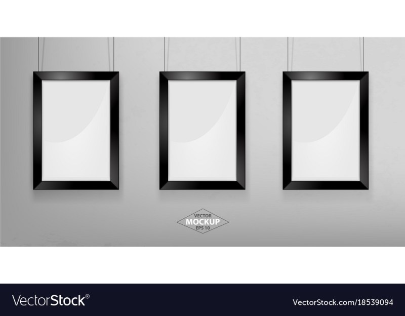 black photo frame mockup