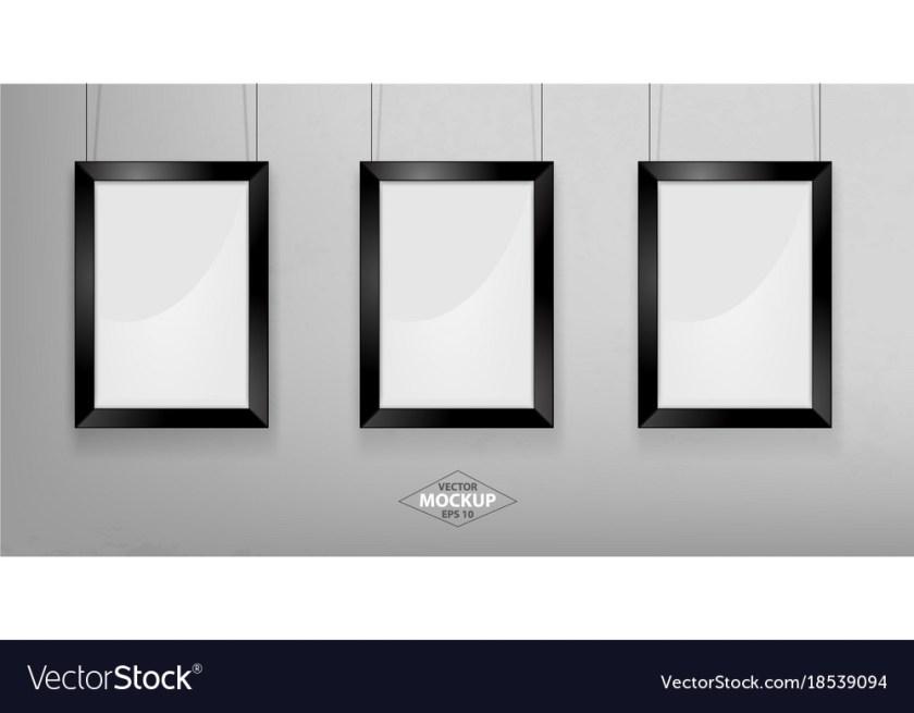black photo frame mockup