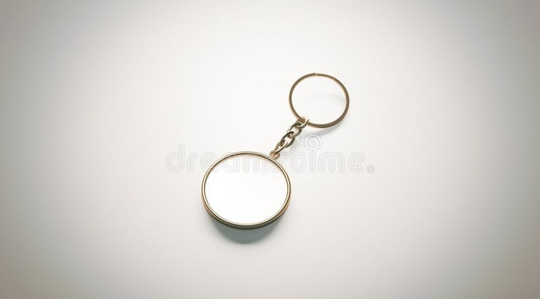 blank gold keychain mockup stock illustration illustration of