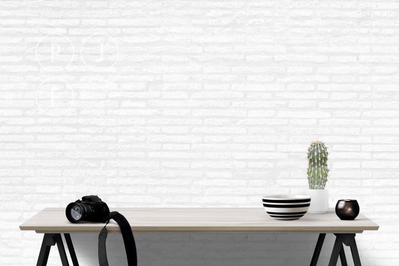 blank wall mockup desk mockup camera blog background photography cactus camera subway tile