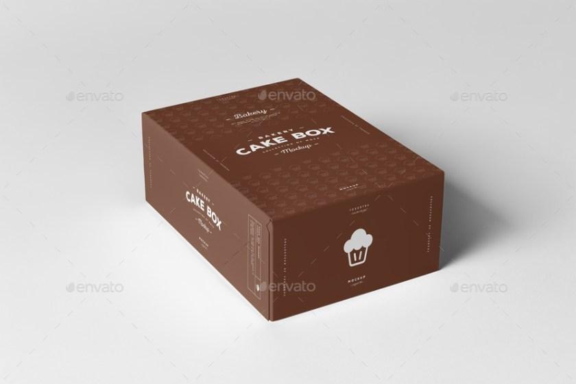 cake box mock up