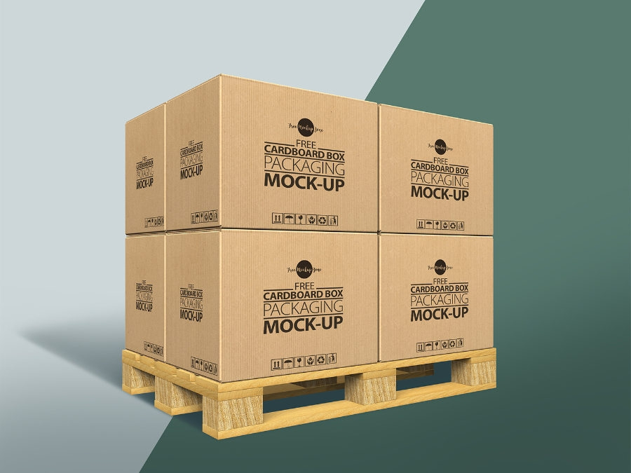 cardboard box mockup free psd template ltheme