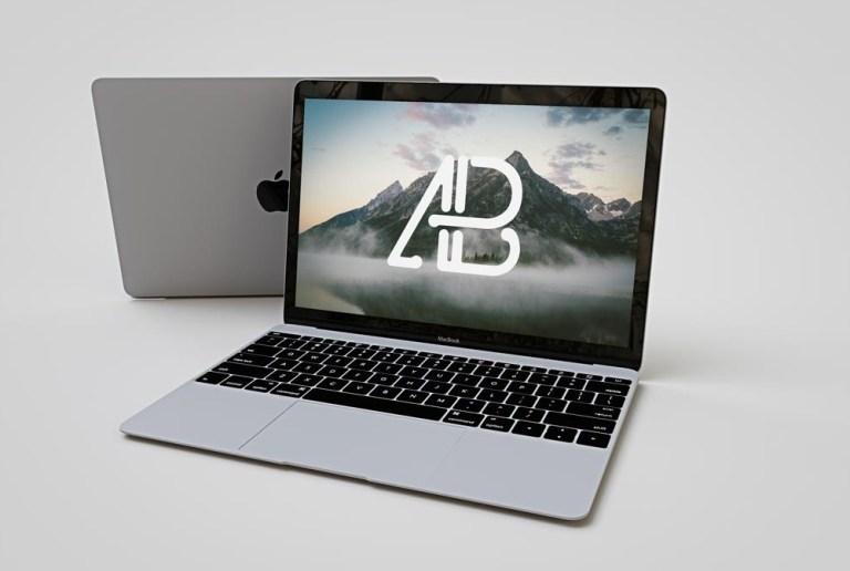 clean macbook mockup mockupworld