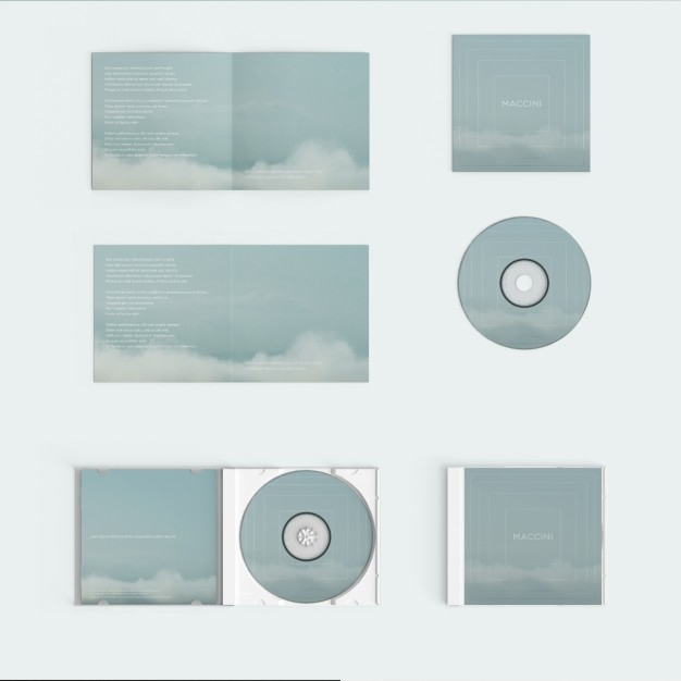 compact disc cover mock up psd file free download