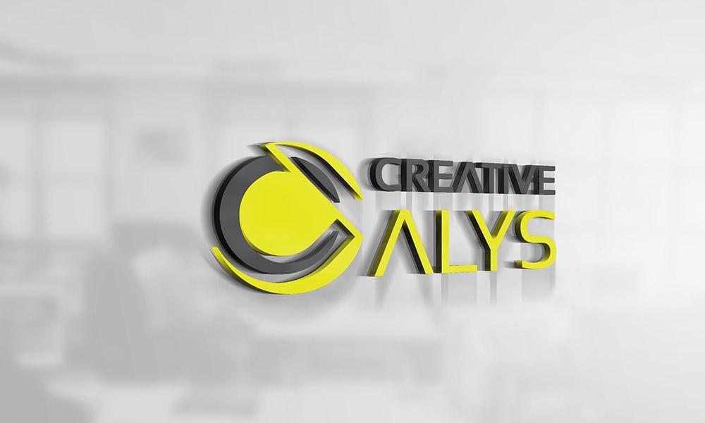 creative 3d logo mockup psd creative alys